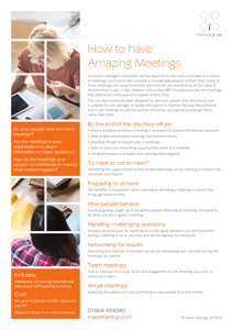 How To Have Effective Meetings Course